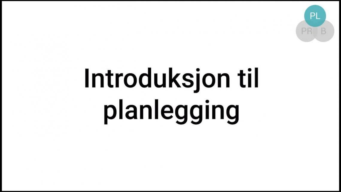 Intro - planlegging video